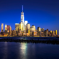 Freedom Tower, Blue Hour