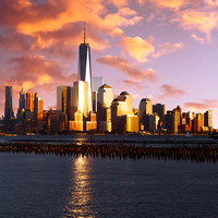 Freedom Tower, Sunset